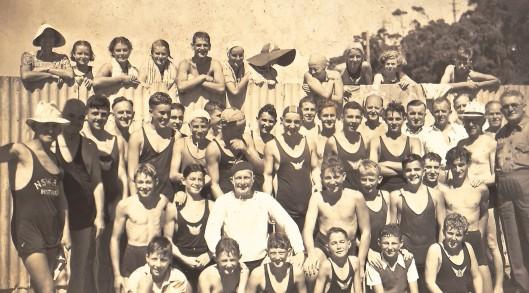 Spit Club swimmers 1939-1940 season